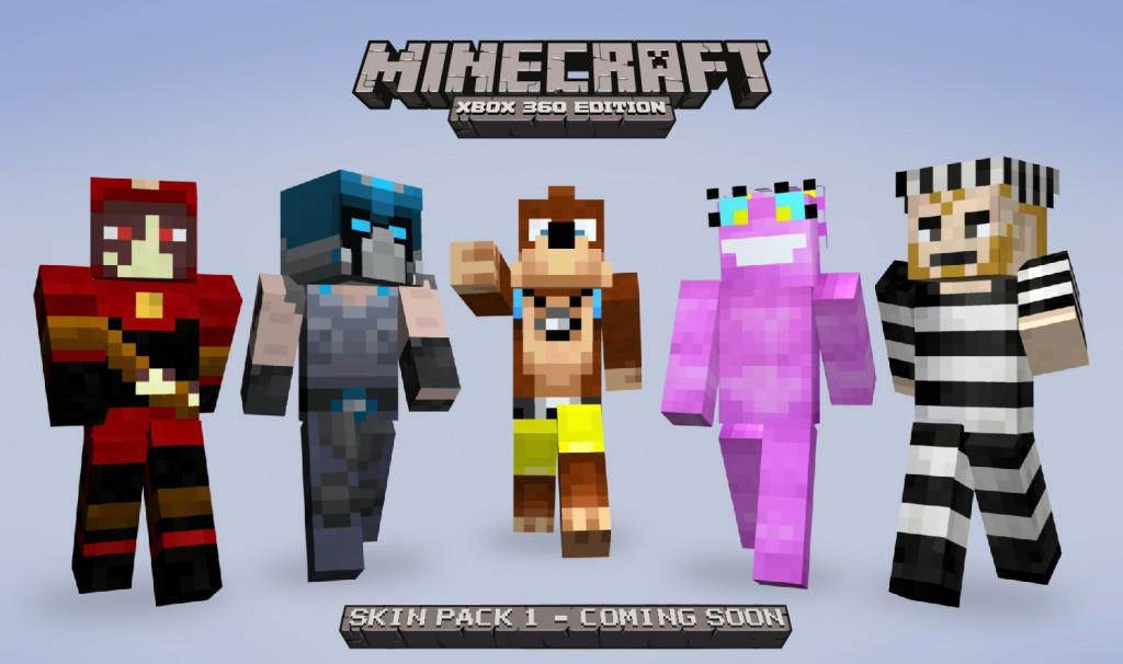 Character skins are on their way to Minecraft: Xbox 360 Edition .